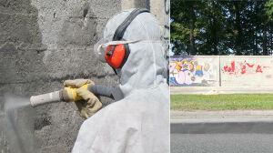 Jedni czyszczą, drudzy malują. Na Służewcu bitwa na farbę i wodę