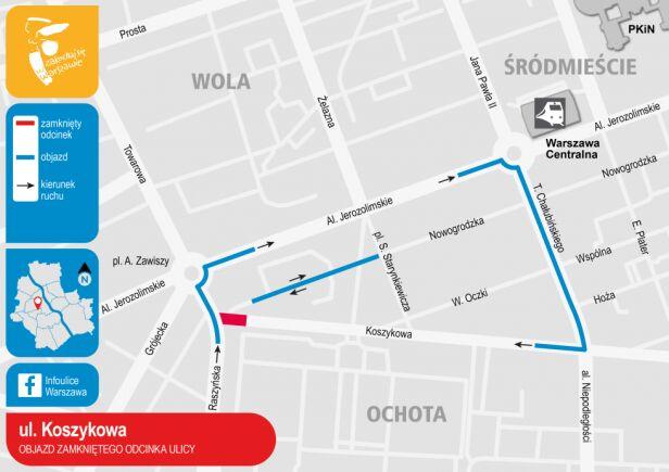 Objazd ulicy Koszykowej  UM