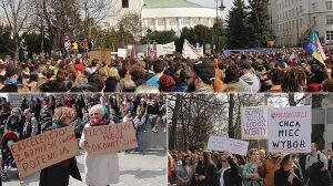 """Protest w sprawie zakazu aborcji. """"Kilka tysięcy osób przed Sejmem"""""""