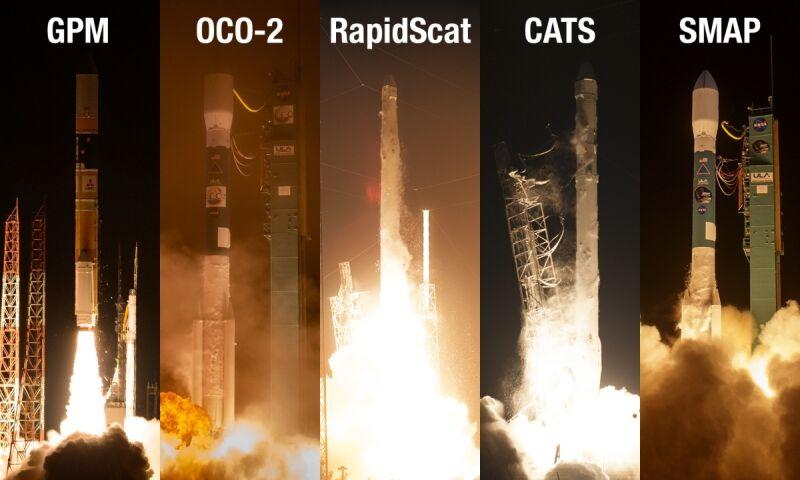 Pięć nowych satelitów obserwacyjnych NASA