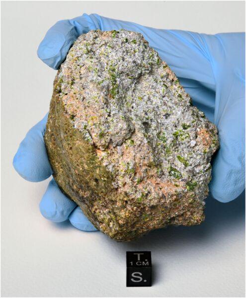 Meteoryt NWA 11119 (2017 B. Barrett/Maine Mineral & Gem Museum)