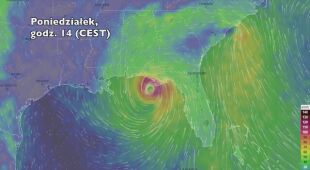 Porywy wiatru związane z burzą Alberto